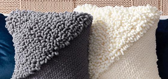 Bernat Alize EZ Loopy Corner Crochet Pillow 4