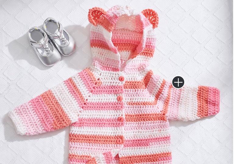 Easy Baby Bear Crochet Hoodie