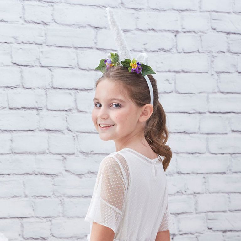 Easy Unicorn Tail and Crochet Horn Headband