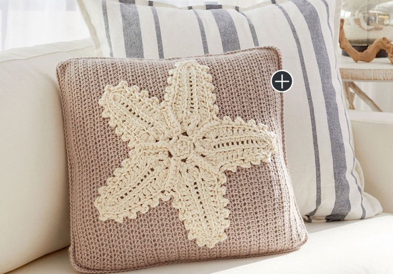 Easy Crochet Starfish Pillow