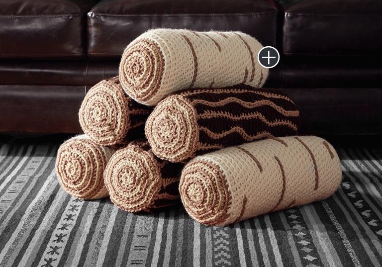Easy Crochet Timber Pillows