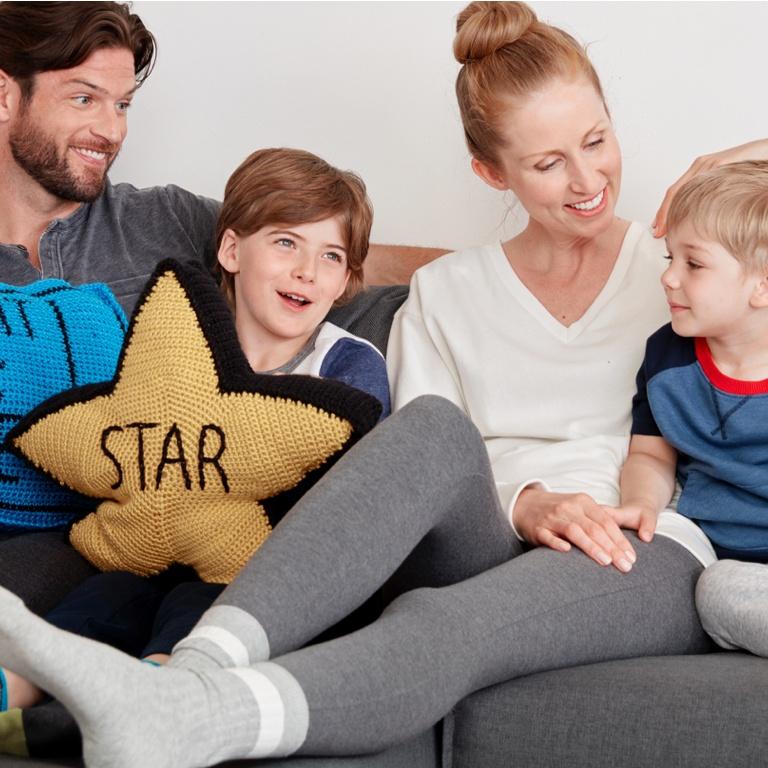 Intermediate Movie Goers Crochet Pillow Trio