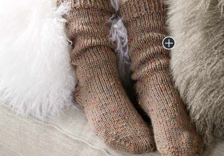 Intermediate Knit Slouchy Socks