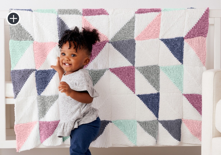 Easy Knit Patchwork Baby Quilt