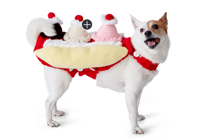 Easy That's Bananas Crochet Dog Coat