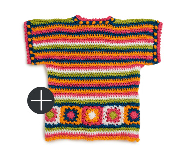 caron in living color crochet top multi-colored