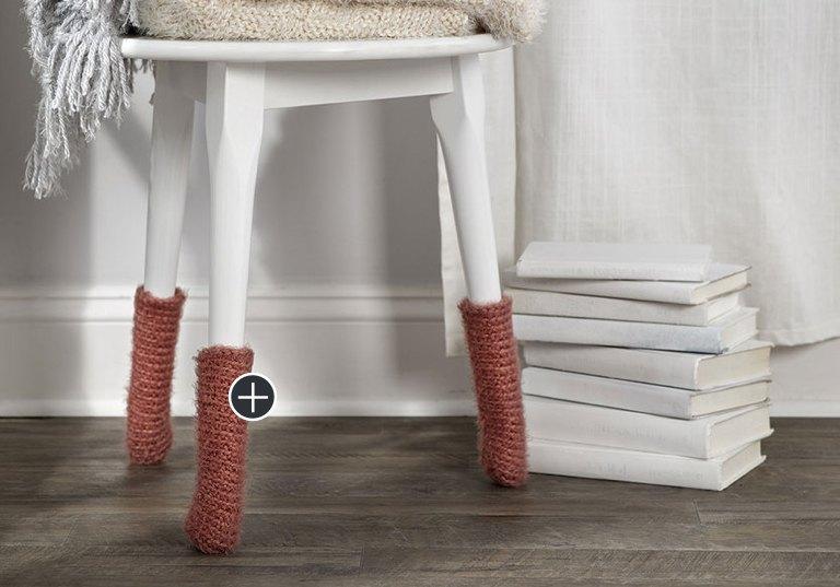 Easy Crochet Stool Leg Cozies