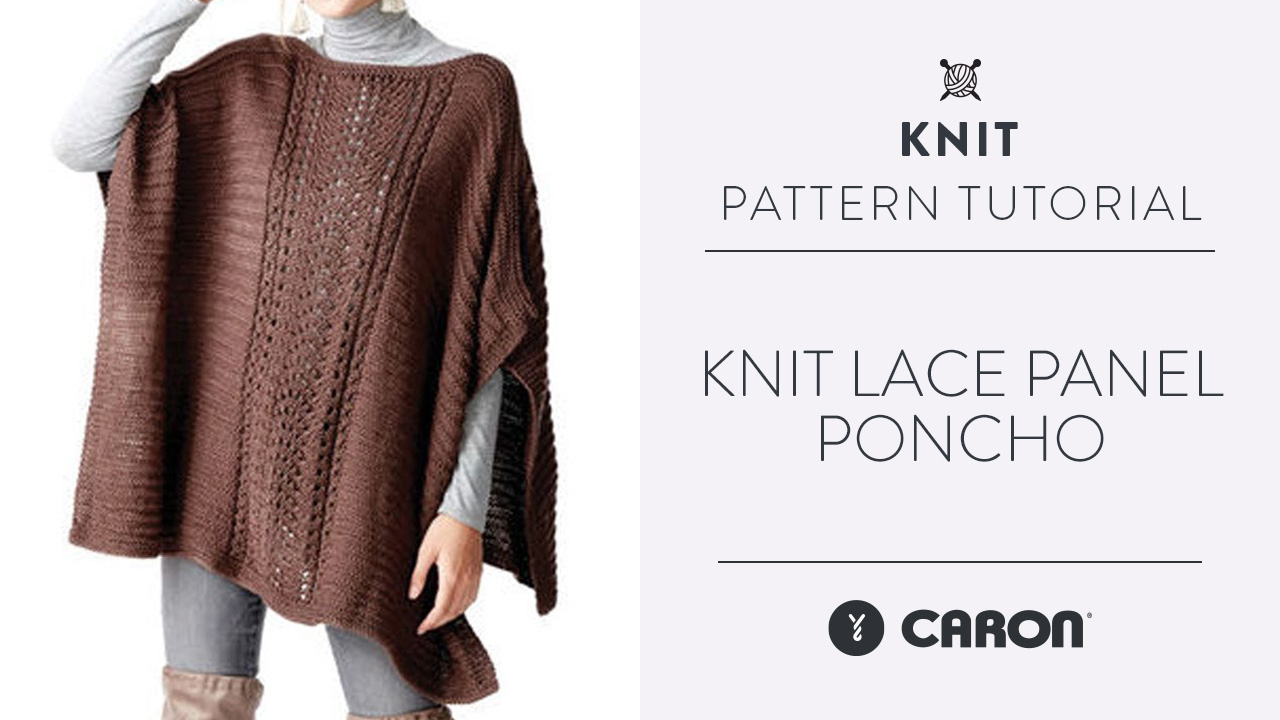 Knit: Lace Panel Poncho
