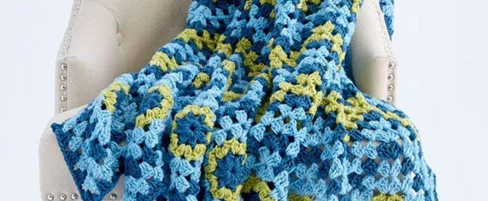 Waving to Granny Crochet Blanket