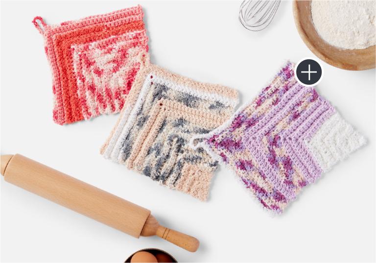 Easy Lily Sugar'n Cream Scrubbing Miter Crochet Dishcloth