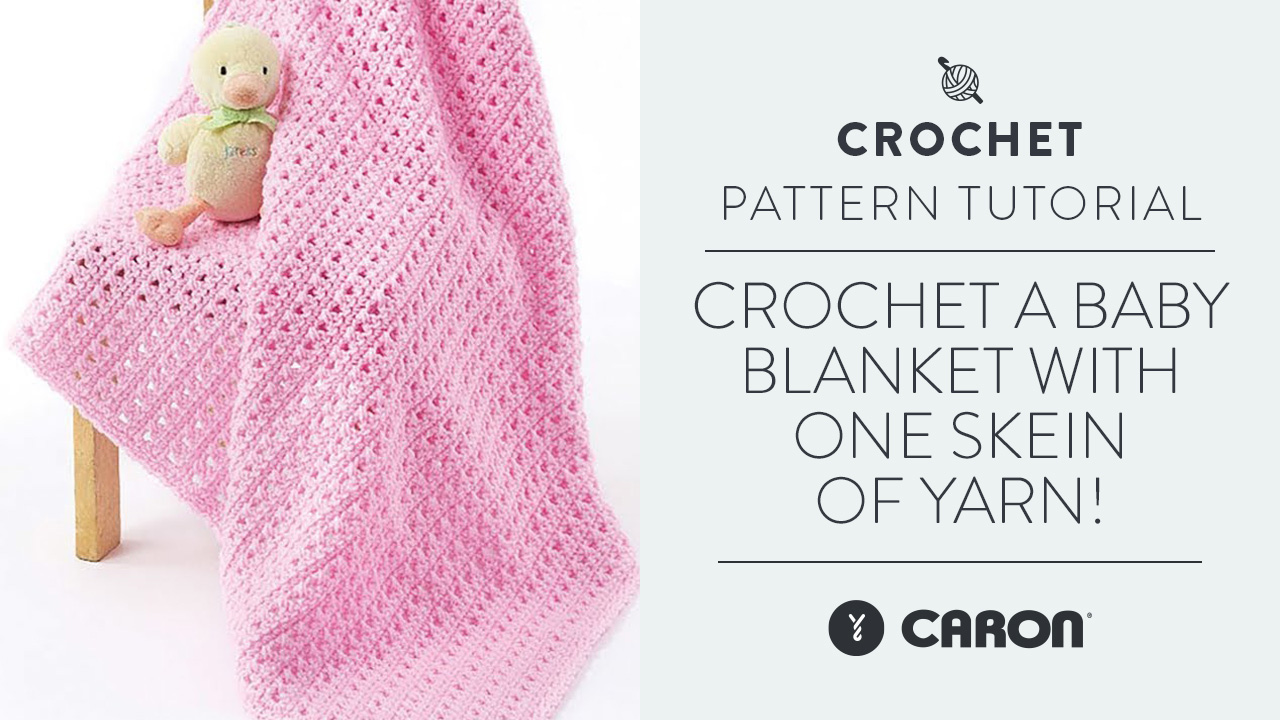 Crochet A Baby Blanket With One Skein Of Yarn!