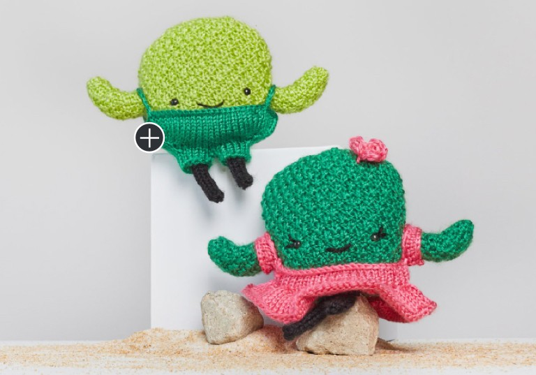 Easy Prickles and Pear Knit Cactus