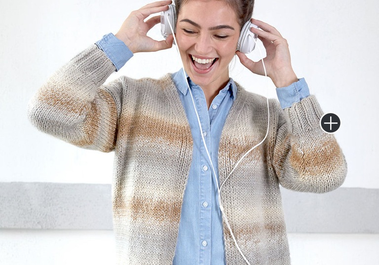 Intermediate Wandering Cables KNit Cardigan