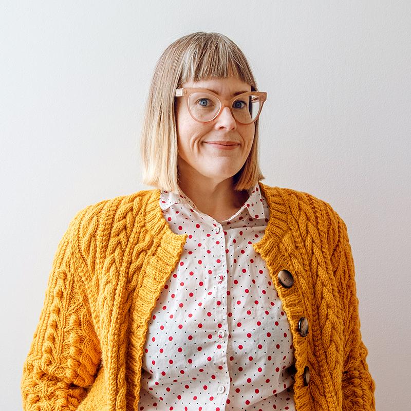 Yarnspirations pattern designer Nicole Winer