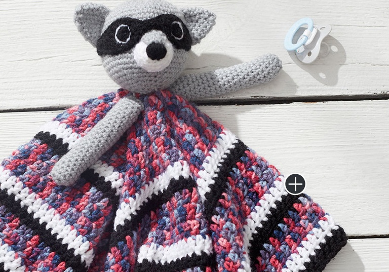 Easy Raccoon Crochet Lovey