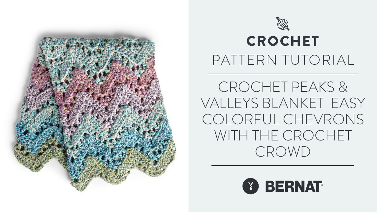 Crochet Peaks & Valleys Blanket | Easy Colorful Chevrons With The Crochet Crowd