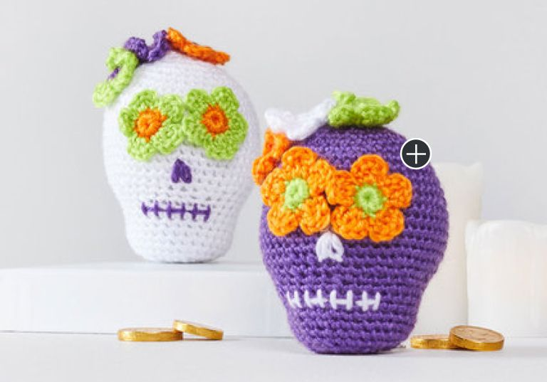 Easy Sweet Crochet Sugar Skulls