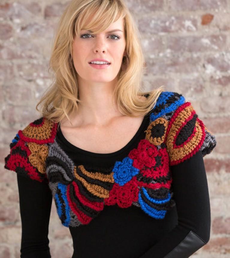 Intermediate Freeform Cropped Crochet Topper