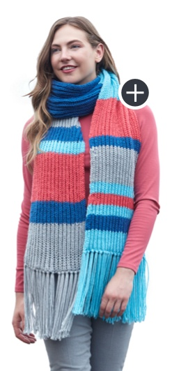 Easy Fisherman Rib Big Scarf