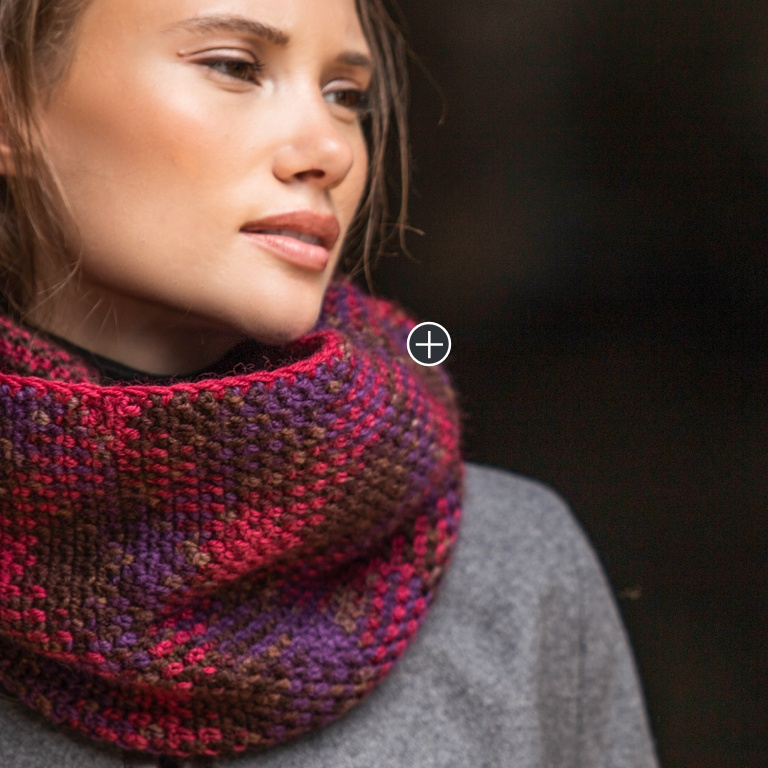 Easy Pooling Crochet Infinity Scarf