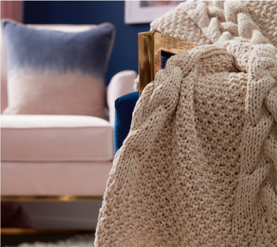 Bernat Tuck Stitch Knit Blanket 1