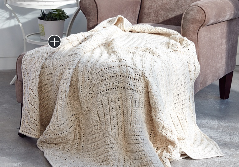 Intermediate Counterpane Knit Blanket