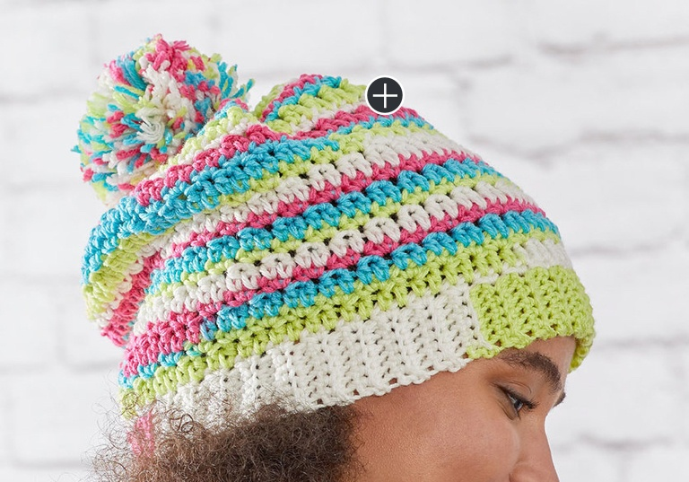 Easy Crochet Stripes Hat