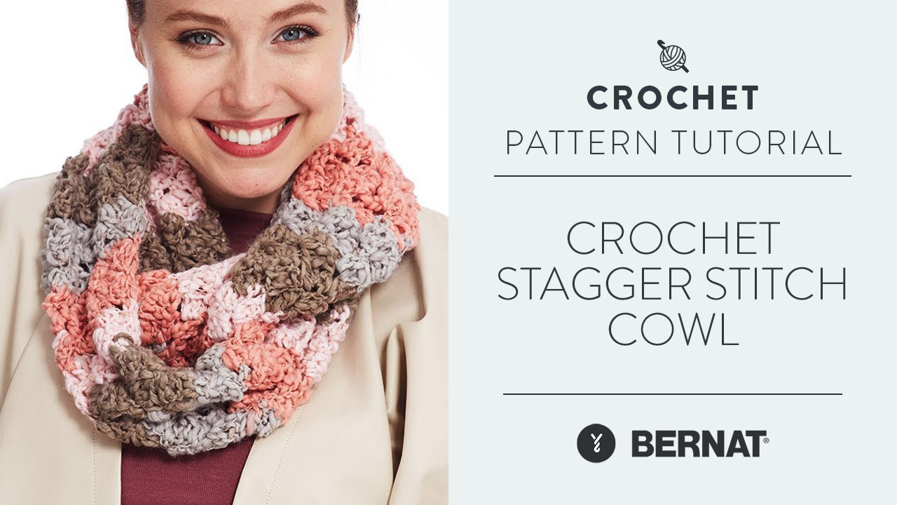 Crochet Stagger Stitch Cowl