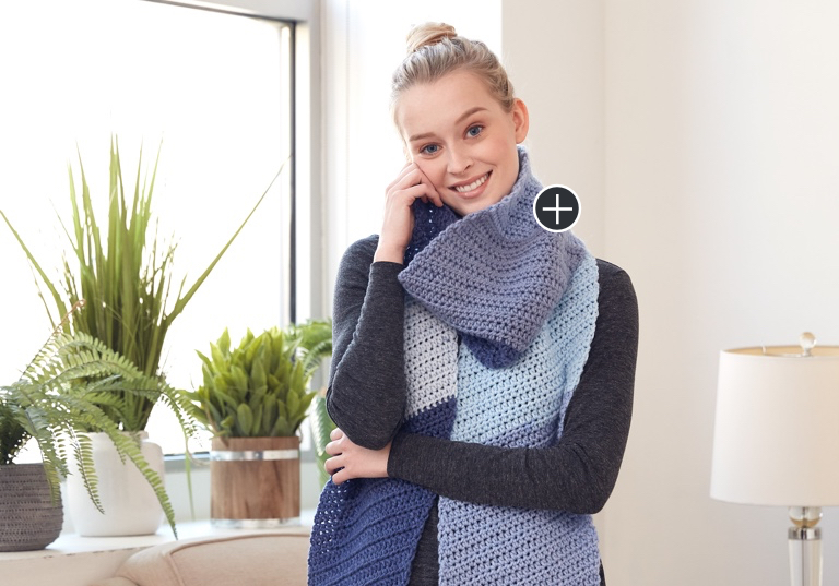 Easy Lean On Me Crochet Scarf
