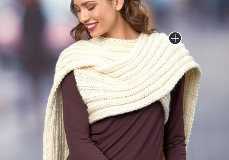Easy Knit Statement Scarf