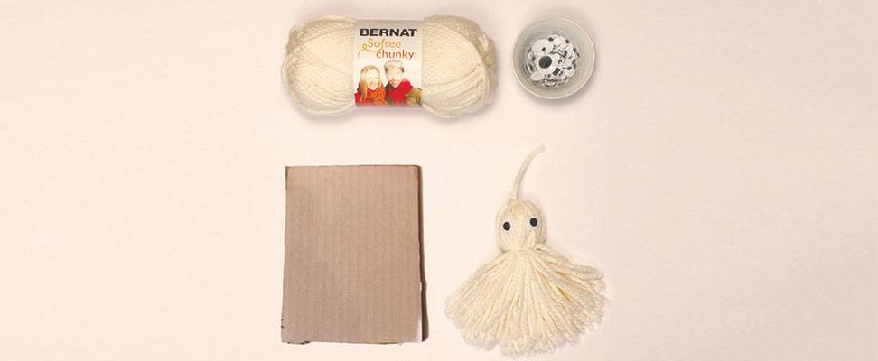 Craft a Yarn Tassel Ghost!