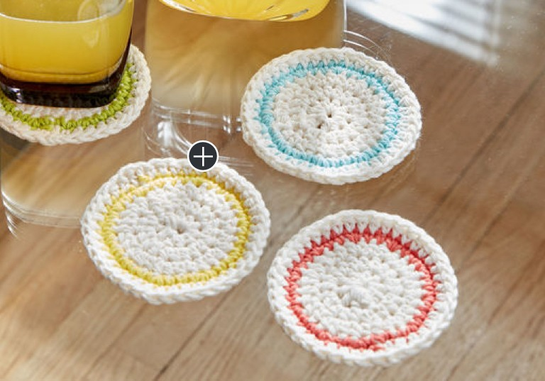 Easy Round About Crochet Coasters