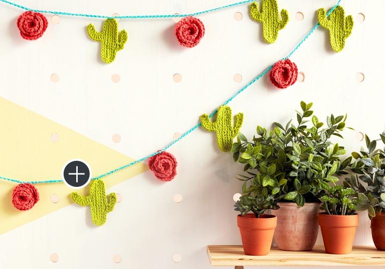 Easy Crochet Cactus Garland