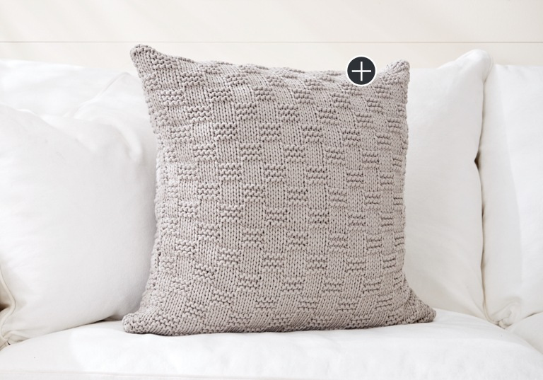Beginner Beachside Knit Pillow