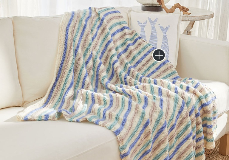 Easy Beach House Knit Throw