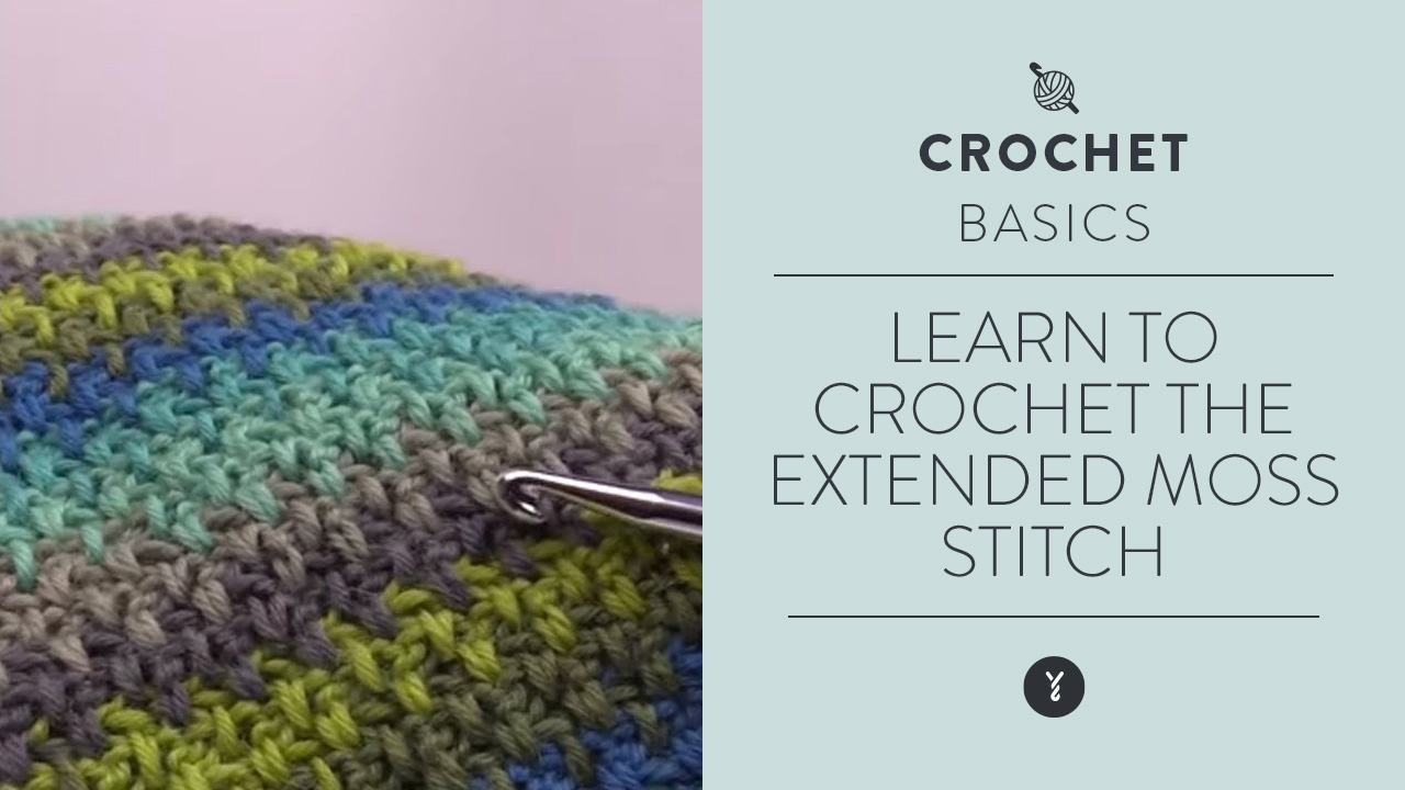 Learn to Crochet the Extended Moss Stitch