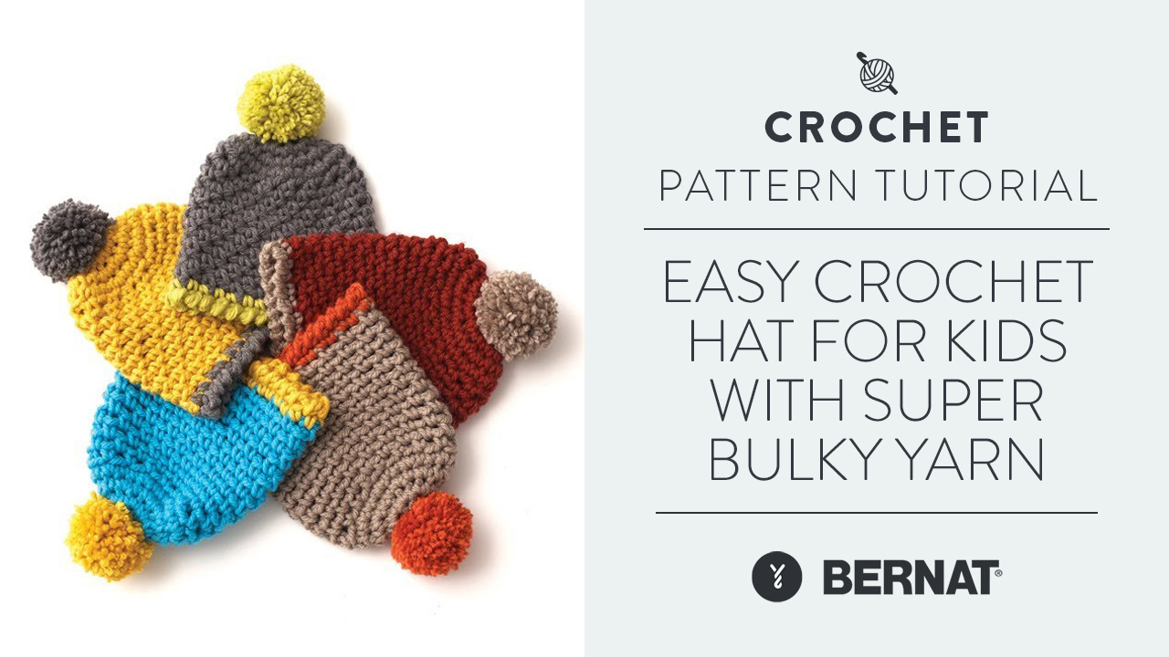 Easy Crochet Hat For Kids With Super Bulky Yarn