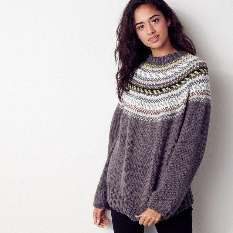 Intermediate St Lawrence Knit Yoke Sweater