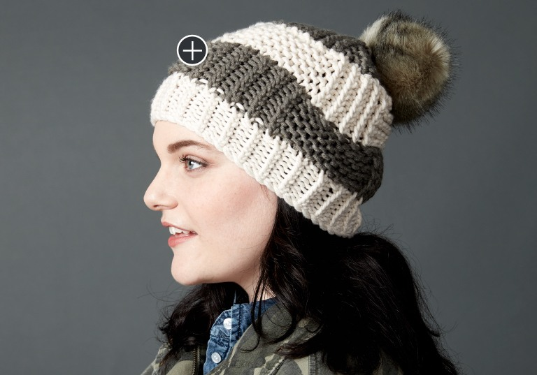 Easy Box Stitch Knit Hat