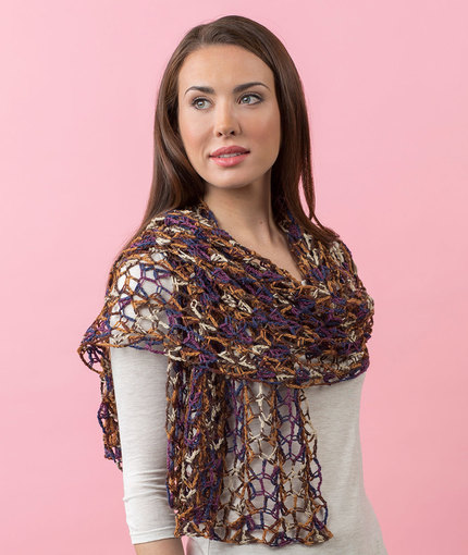 Enjoy Life Shawl Free Crochet Pattern LW5207