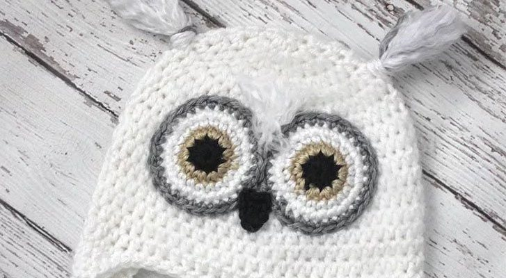 Cute Crochet Snowy Owl Hat!