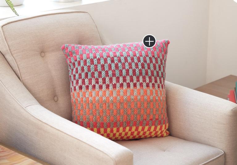 Easy Fantastic Fair Isle Knit Pillow
