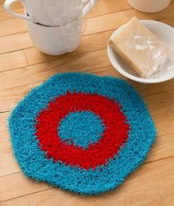 LW4793 Hexagon Crochet Dishcloth