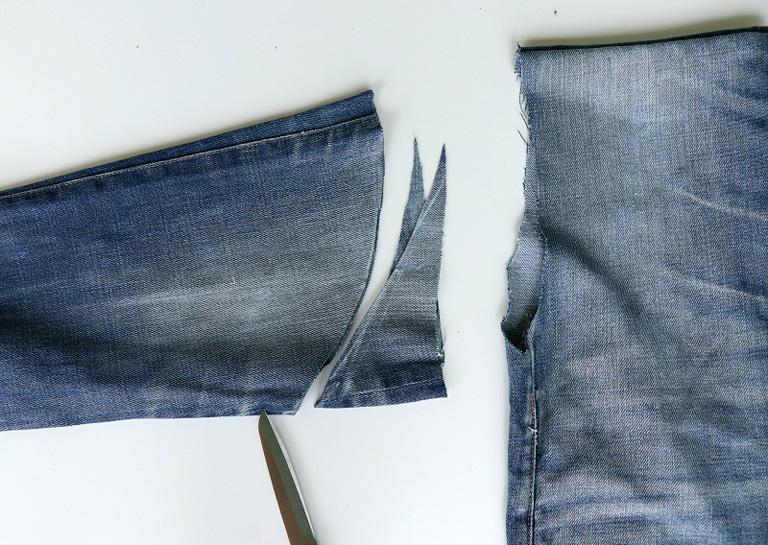 denim bottom convert into sleeves photo 1