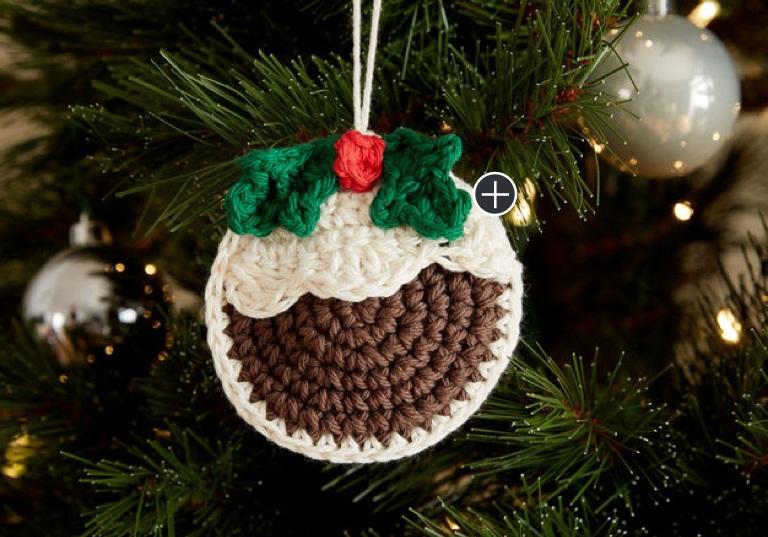 Easy Plum Pudding Crochet Ornament