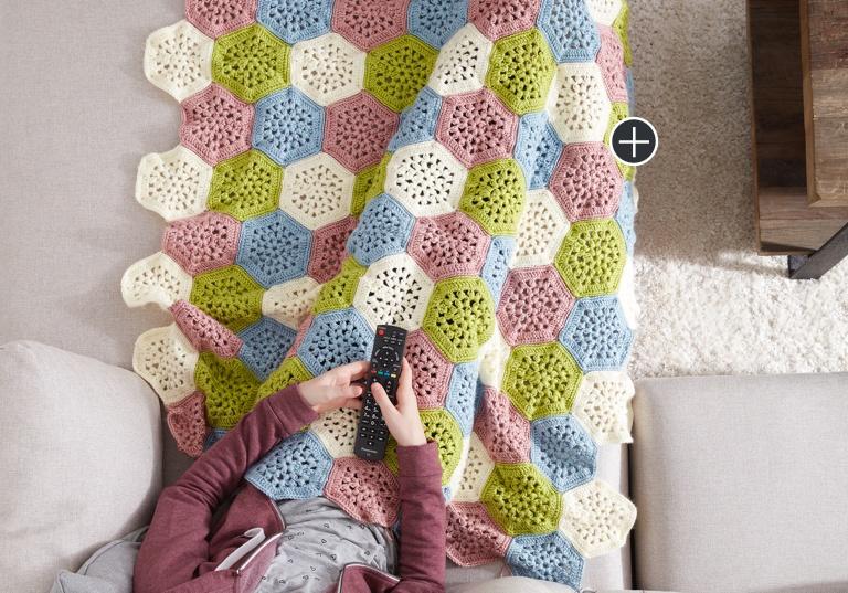 Easy Crochet Hexagon Afghan