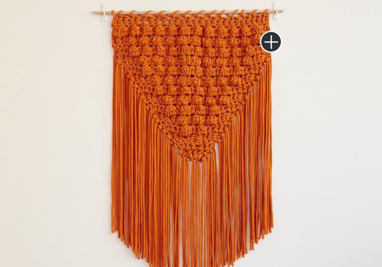 Easy Popping Fringe Crochet Wall Hanging