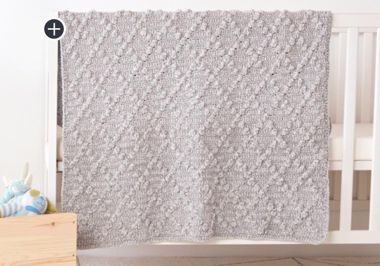Easy Crochet Diamond Bobble Blanket