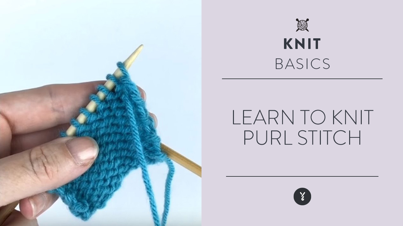 Learn to Knit: Purl Stitch