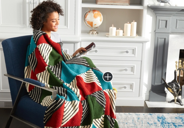 Easy Knit Patchwork Blanket